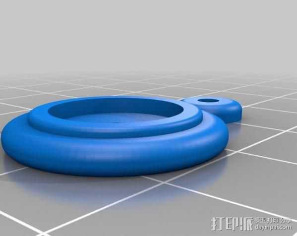 木质火车车轮 3D打印模型渲染图