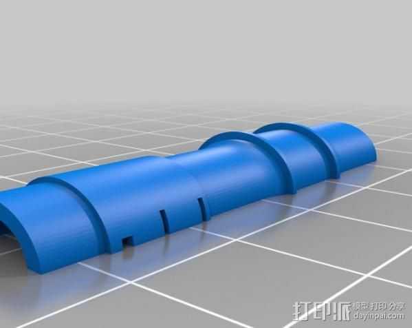 加农炮 3D打印模型渲染图