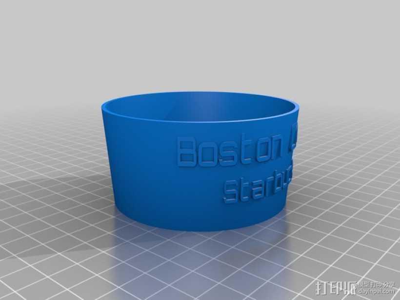 标签圈  3D打印模型渲染图