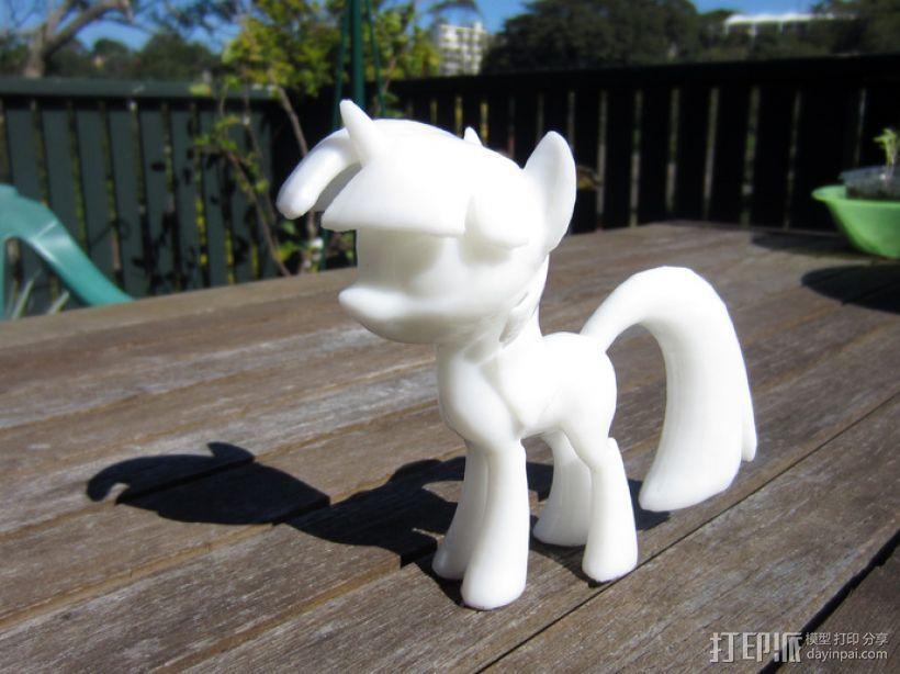 小马驹Twilight Sparkle  3D打印模型渲染图