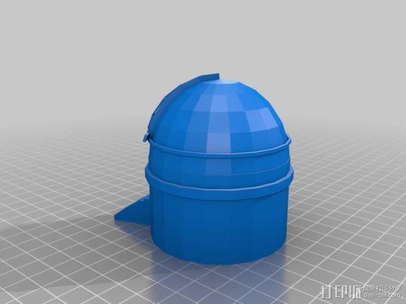 帕洛马山天文台 3D打印模型渲染图
