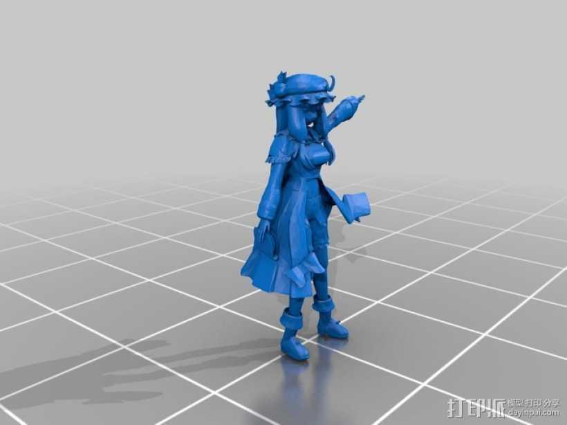 漫画造型 小女孩 3D打印模型渲染图