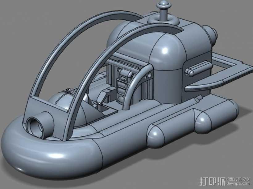 船 快艇 3D打印模型渲染图