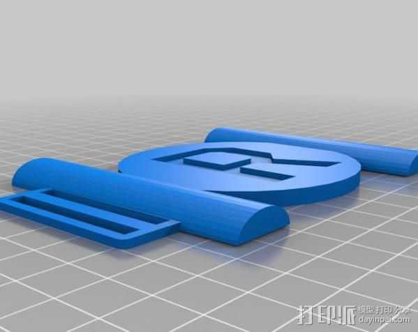 皮带扣 3D打印模型渲染图