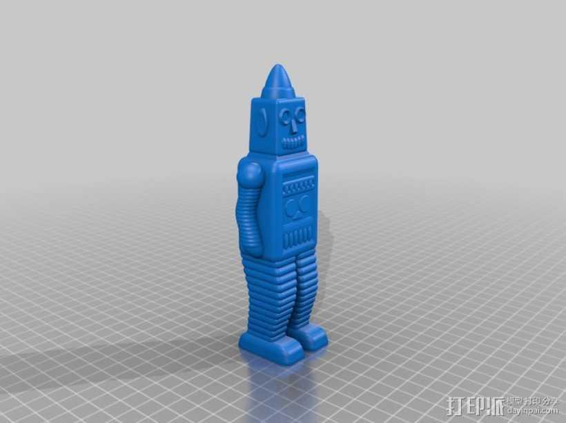 复古机器人 3D打印模型渲染图
