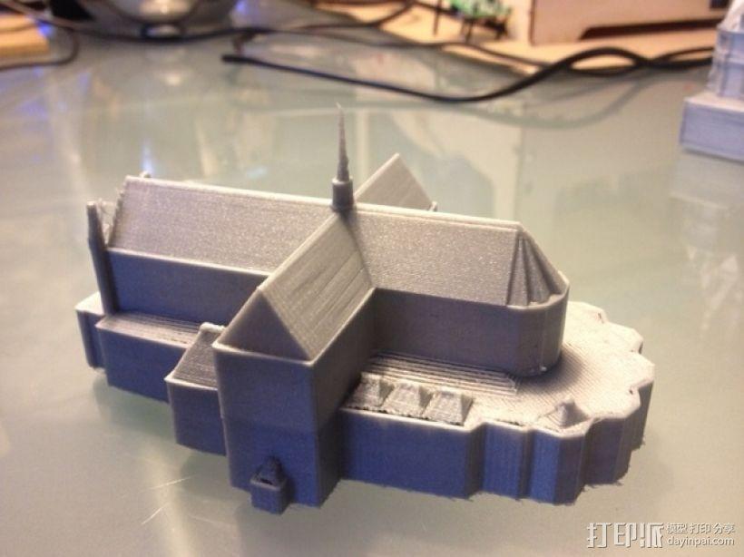 水坝广场新教堂 3D打印模型渲染图