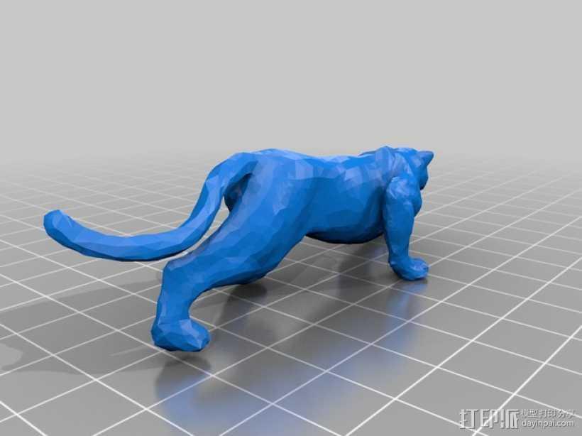 美洲豹 3D打印模型渲染图