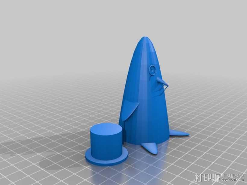 企鹅先生 3D打印模型渲染图