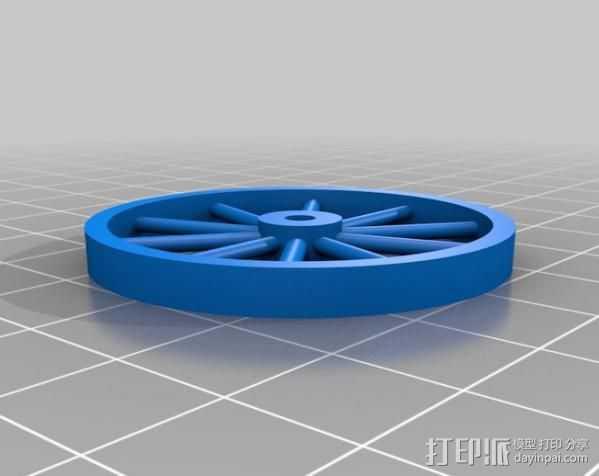 辐条轮 3D打印模型渲染图