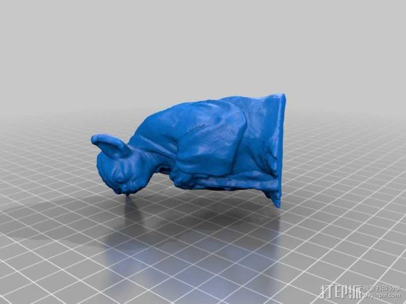 尤达大师 雕塑 3D打印模型渲染图
