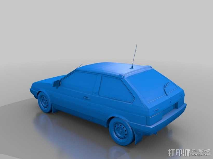 LADA SAMARA拉达汽车 3D打印模型渲染图