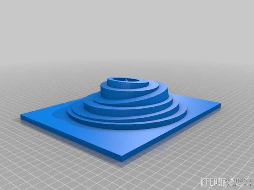 古代的神秘遗址 3D打印模型渲染图