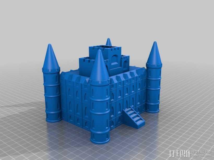 Inverary 因弗拉里城堡 3D打印模型渲染图