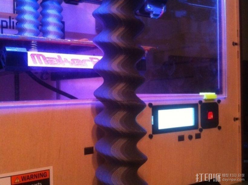 螺旋形魔法棒 3D打印模型渲染图