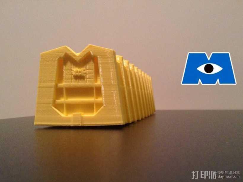 蓝毛怪制作模具 3D打印模型渲染图