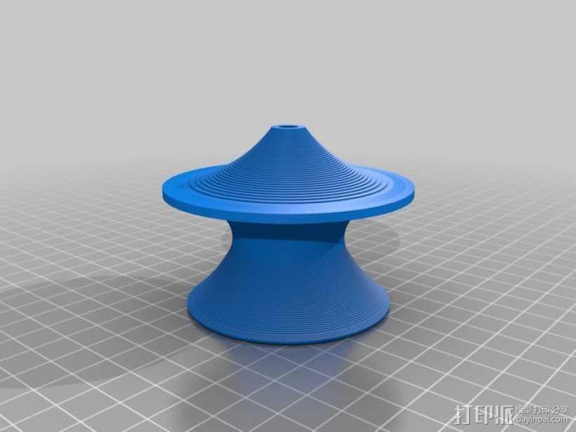 旋转椅 3D打印模型渲染图