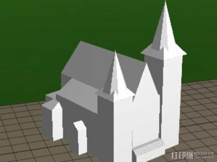 圣安东尼教堂 3D打印模型渲染图