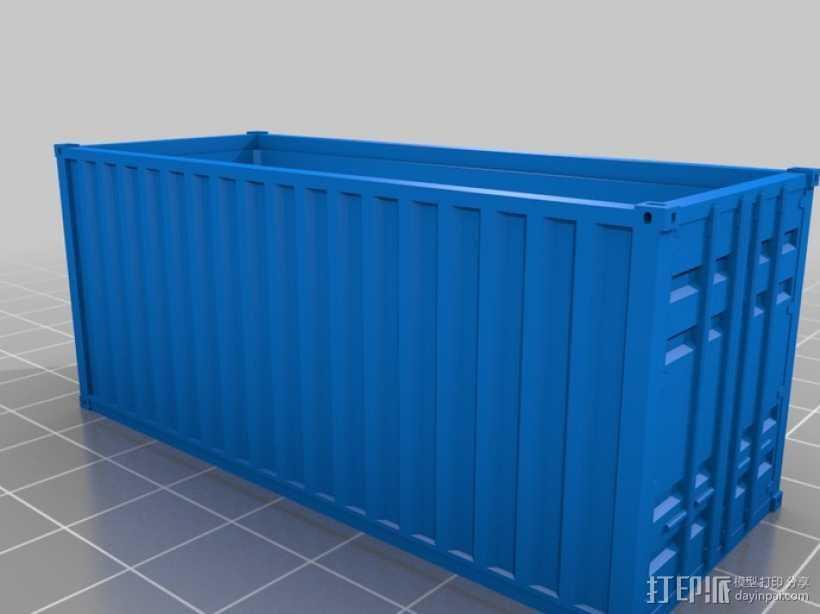 集装箱 3D打印模型渲染图
