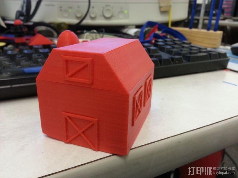 谷仓 小屋 3D打印模型渲染图