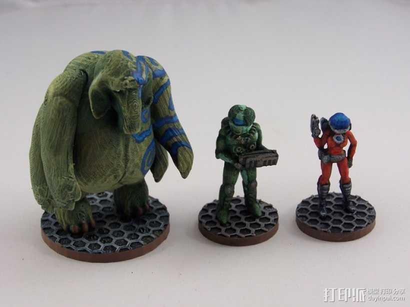 大象战士 3D打印模型渲染图