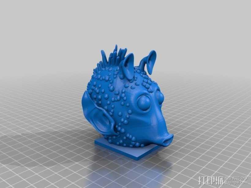 Greedo星球大战造型 3D打印模型渲染图