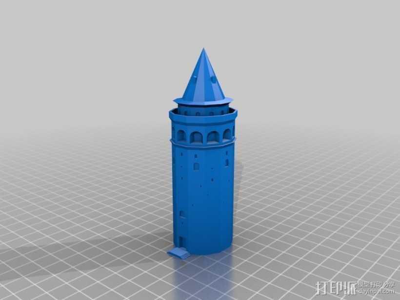 加拉塔石塔 3D打印模型渲染图