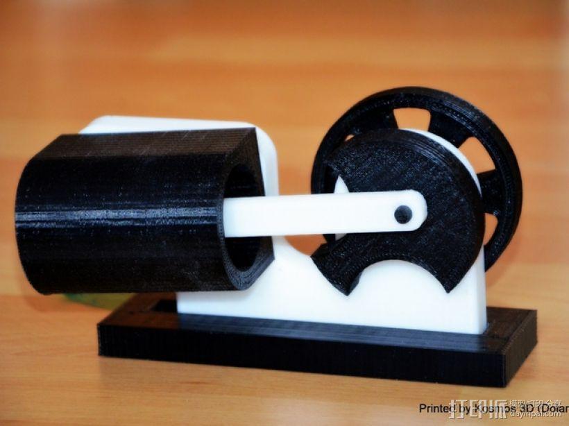 摇杆发动机 3D打印模型渲染图