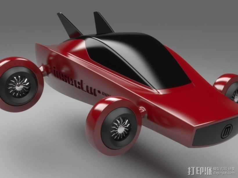 未来式巡视车 3D打印模型渲染图
