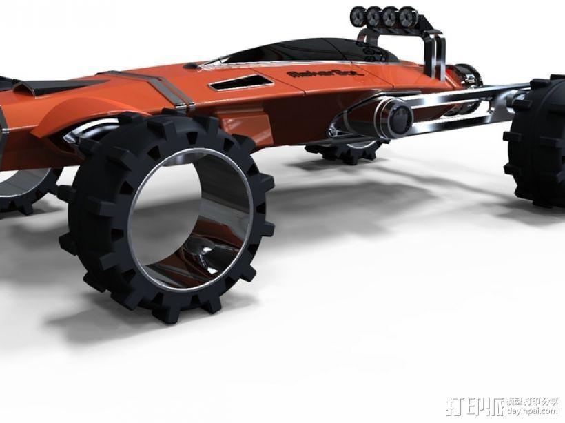 未来式越野车 3D打印模型渲染图