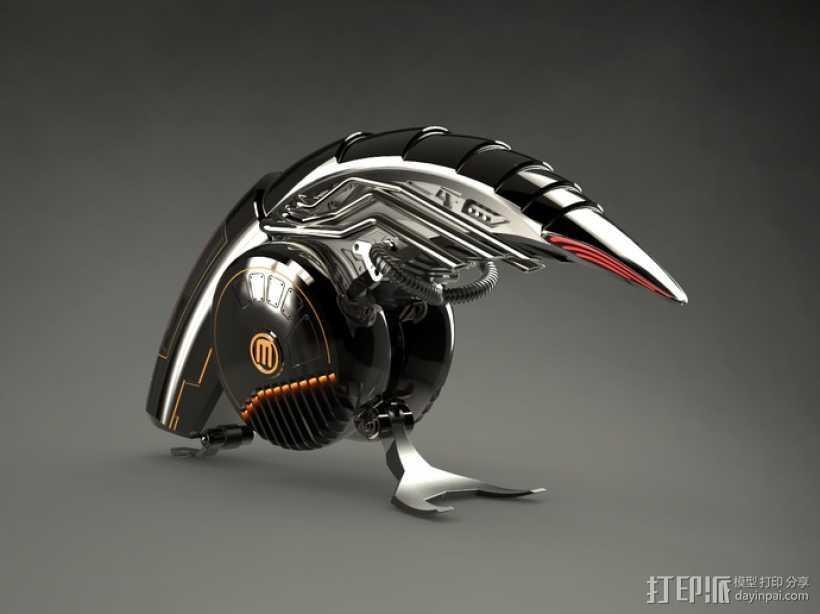 机械鸟 3D打印模型渲染图