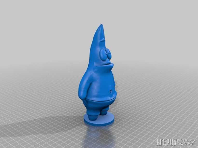 派大星 3D打印模型渲染图