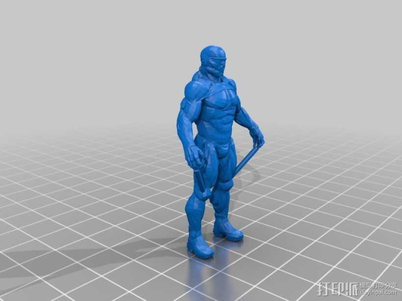 纳米装甲机器人 3D打印模型渲染图