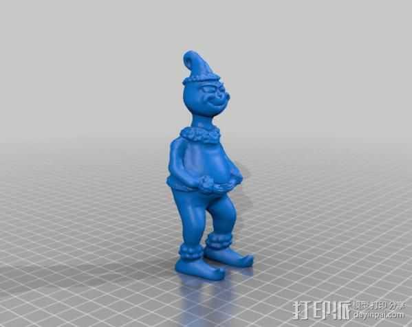 圣诞怪杰 格林奇 3D打印模型渲染图