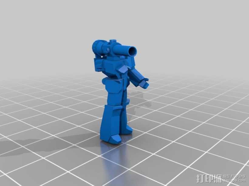 威震天  3D打印模型渲染图