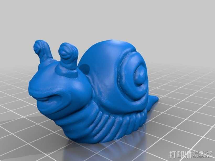 蜗牛 3D打印模型渲染图