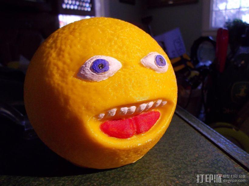 愤怒的橙子 3D打印模型渲染图