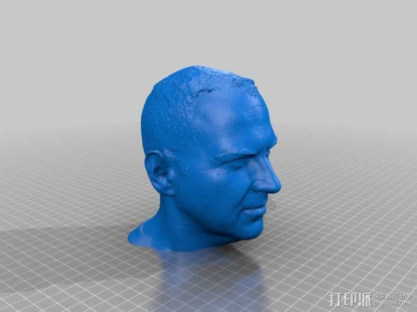 Cory Doctorow科利·多克托罗 头部模型 3D打印模型渲染图