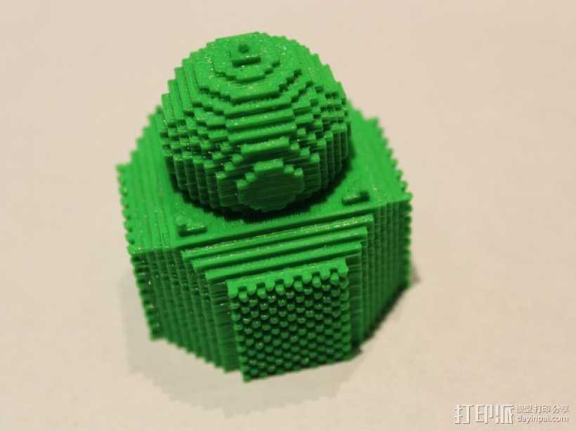 我的世界 寺庙体素模型  3D打印模型渲染图