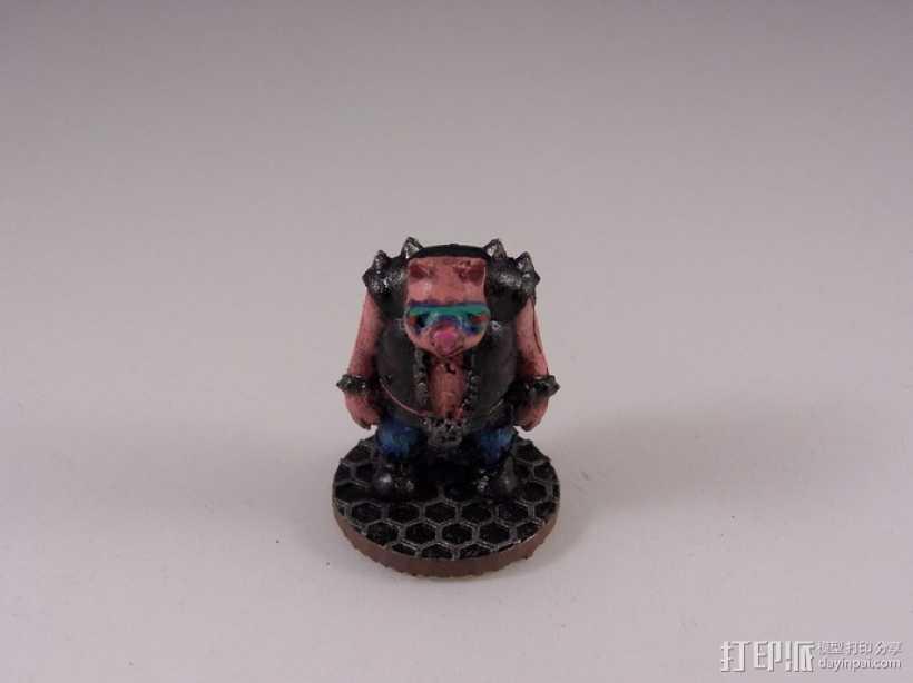 猪战士Fabiano Porcini 3D打印模型渲染图