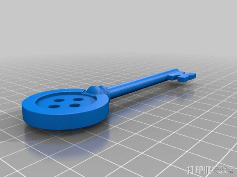 鬼妈妈的万能钥匙 3D打印模型渲染图