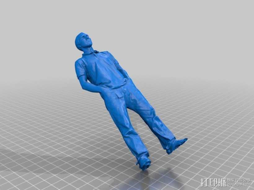 写实人物模型 3D打印模型渲染图