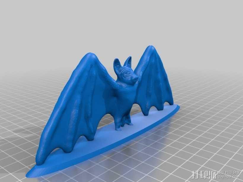 展翅的蝙蝠 3D打印模型渲染图