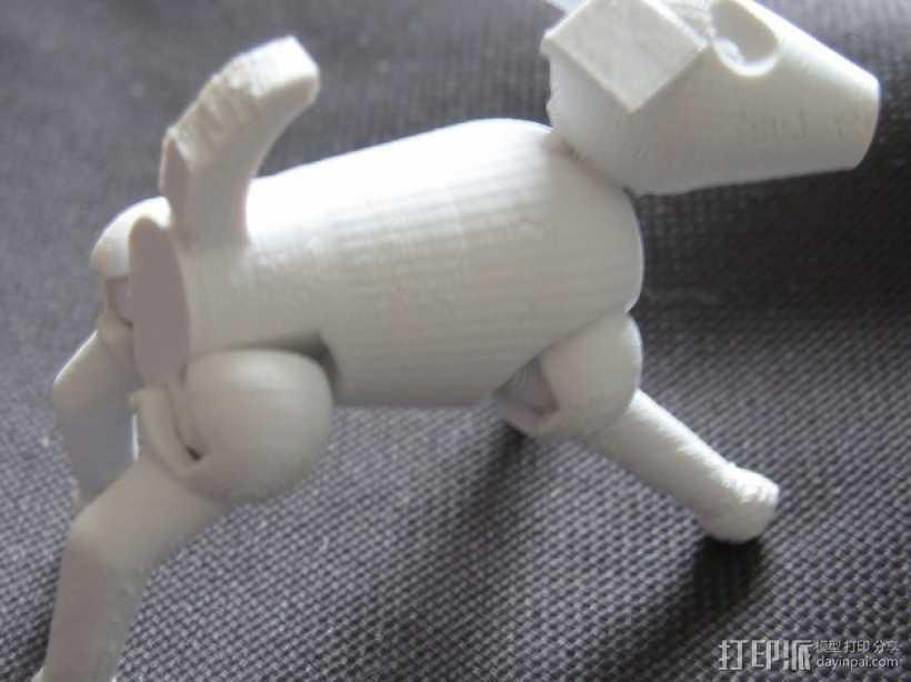 小狗 3D打印模型渲染图