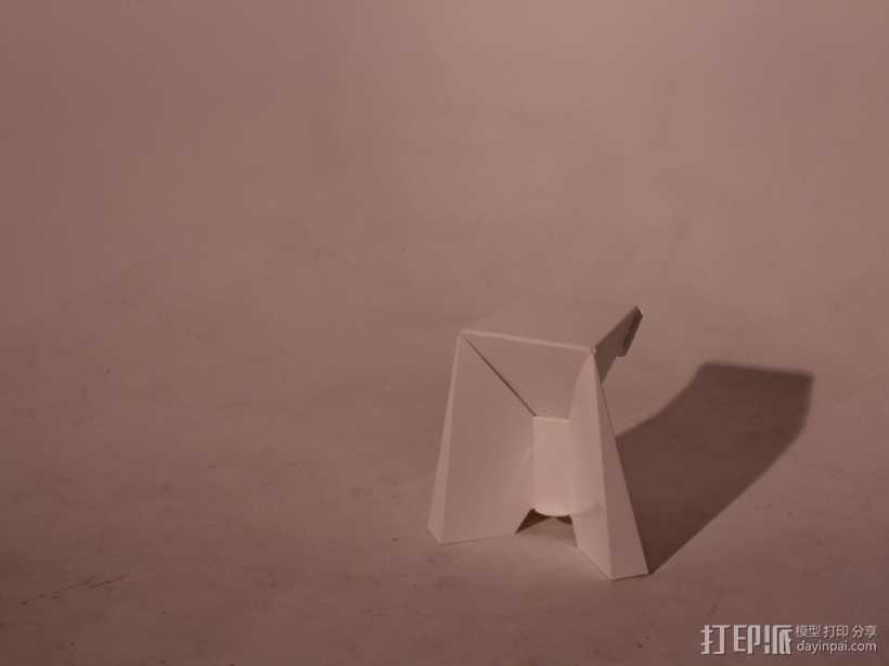 凳子  胶折凳 3D打印模型渲染图