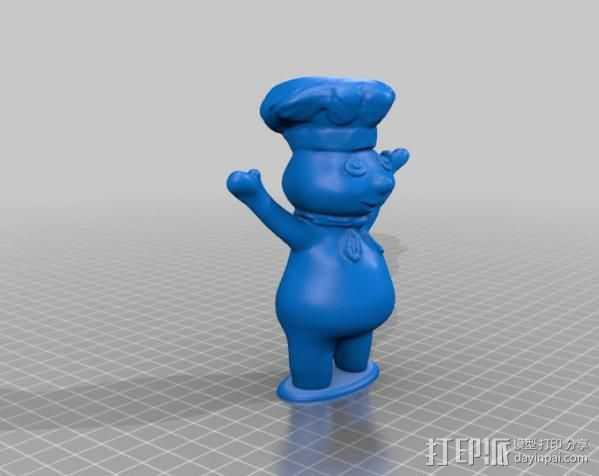 团子 动画造型 3D打印模型渲染图