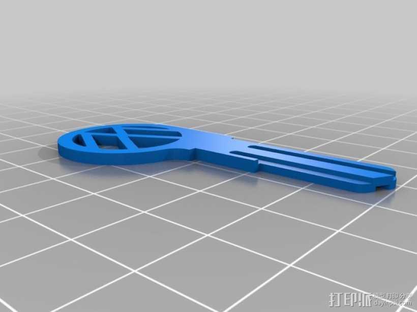 大众甲壳虫钥匙坯 3D打印模型渲染图