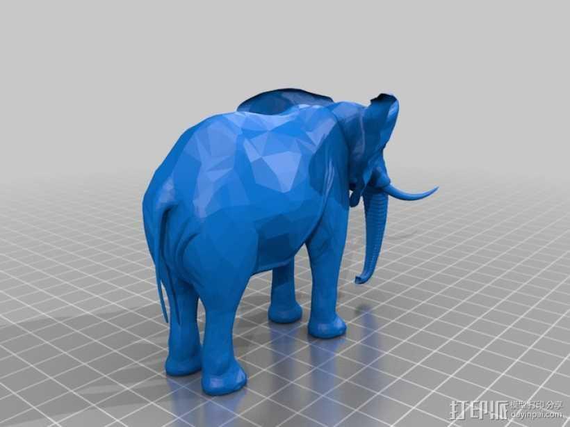 大象  3D打印模型渲染图
