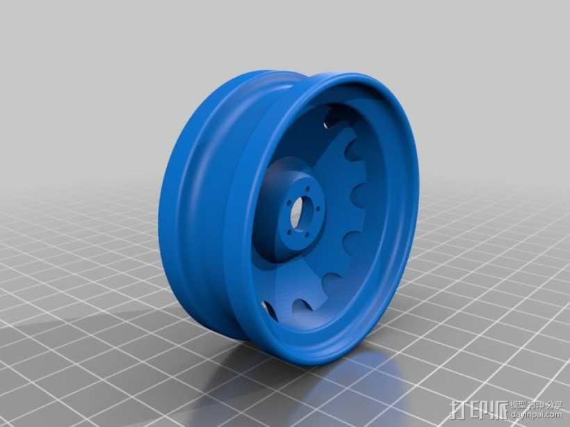 车前轮 3D打印模型渲染图