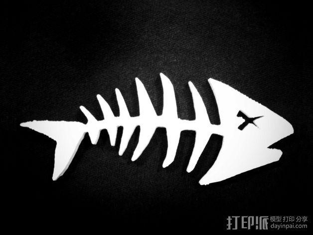 鱼骨  3D打印模型渲染图