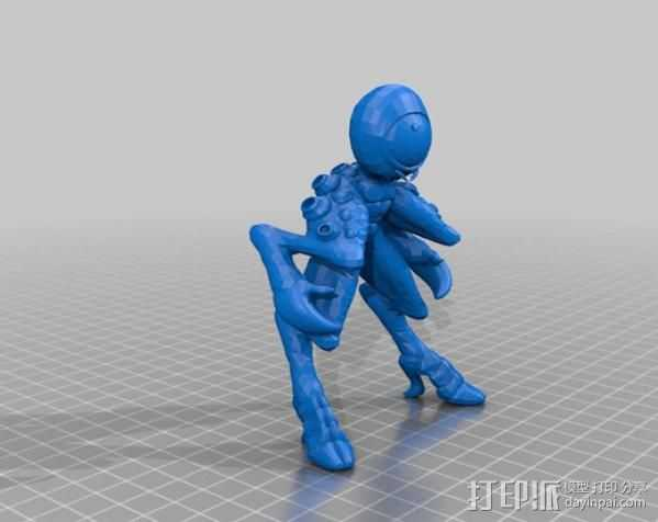 Occulo Sapient外星人 3D打印模型渲染图